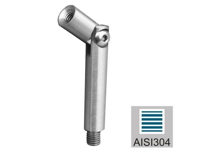 Állítható kapaszkodó tartószár AISI304, D12/M8/M6/