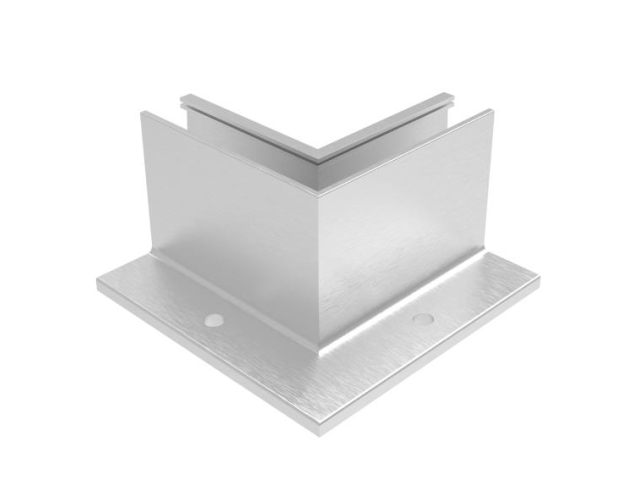 Kotvění vrchní - sklo hliník AL/ELOX/Satin