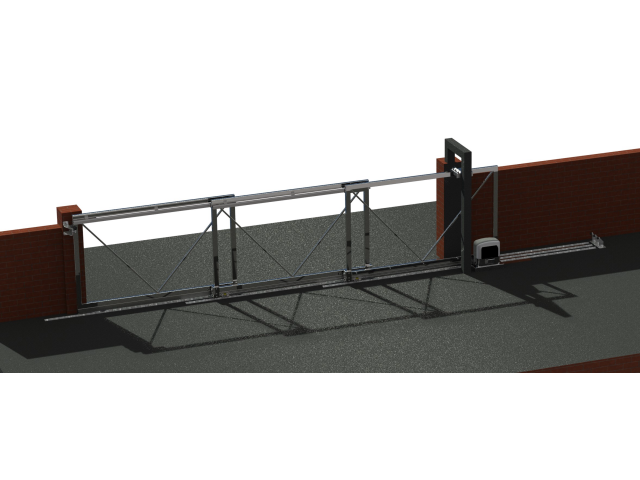 Telescopic system for sliding gates, max 15m