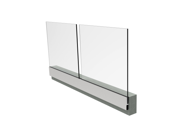 Vonalmenti üvegkorlát-teljes garnitúra H=1m/L=2,5m