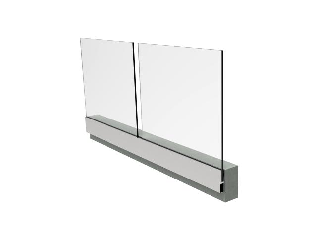 Alluminiumprofil für Glasgeländer AL/16,76/H1000/L
