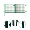 Brána 2kr. ROUND ZnPVC RAL 6005 1800x4000mm