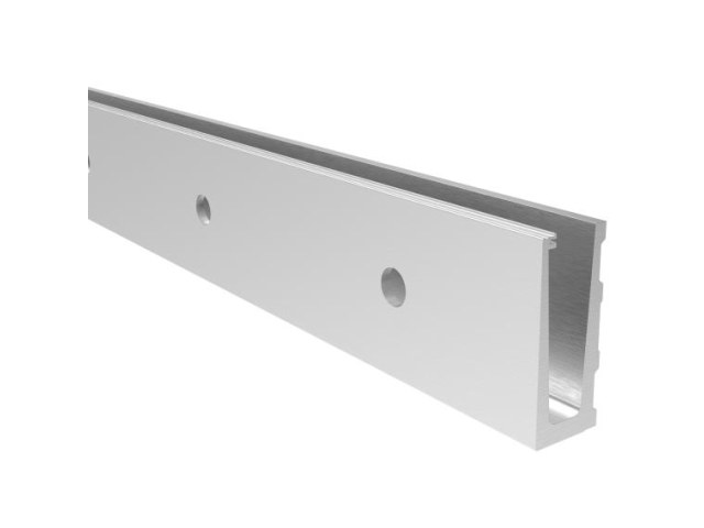 Aluminium profile - side mounting