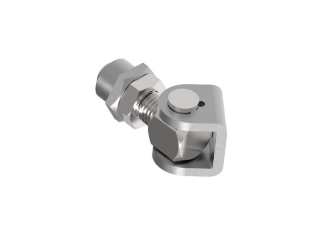 Adjustable hinge with weldable plate Zn, M18