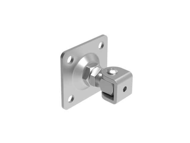 Adjustable hinge with anchoring flange M20, 100x10