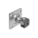 Adjustable hinge with anchoring flange Zn, M20