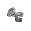 Adjustable hinge with rotary plate M16, AISI 304