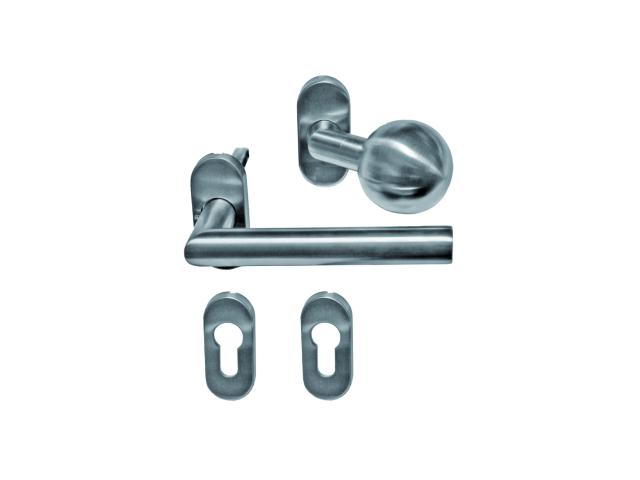 Türdrücker Edelstahl AISI 304, K320, L135mm