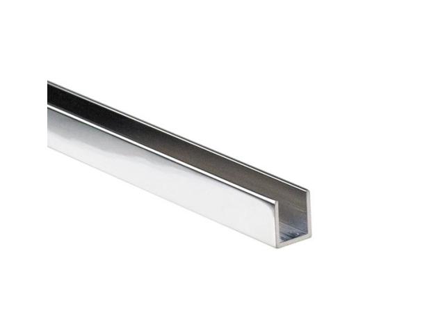 Verglasungsprofil U AL 15x10x2mm t6mm
