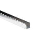 Aluminium U profile AL 15x10x2mm t6mm