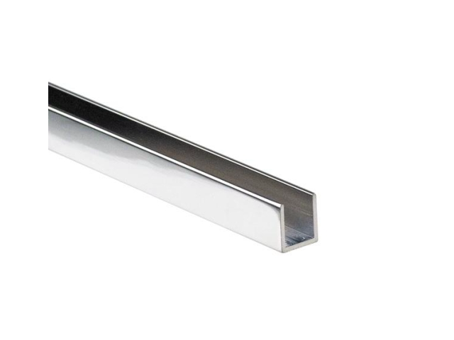 Verglasungsprofil U AL 20x14x2mm t10mm