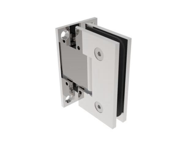 Glastürscharnier  +/- 90° - Montage Glas/Wand flex