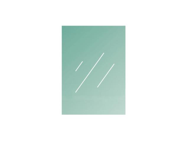 Színtelen laminált/edzet üveg 1000x750x8,76