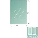 Clear, laminated glass 8,76-700x750