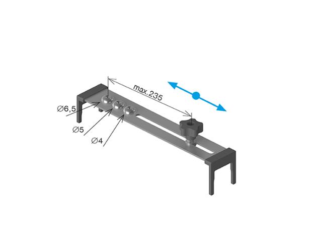 Přípravek na vrtání trubek D42,4x2mm, 40x40x2mm
