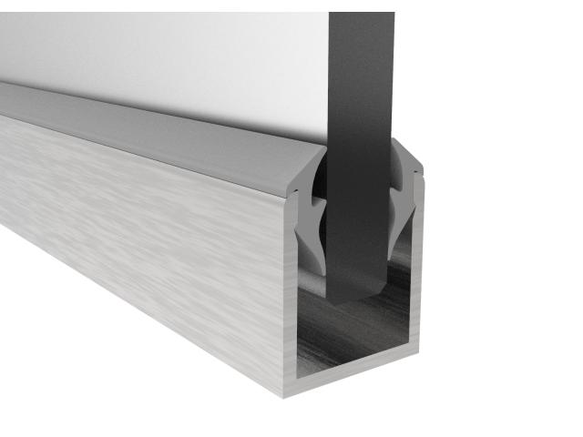 Profil aluminiowy U satin-inox 20x18 mm, SET