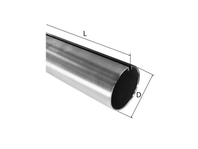 Trubka s drážkou AISI304,D18, L3000mm