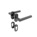 Kľučka so štítkom - pár, AISI 304, K320, L135mm