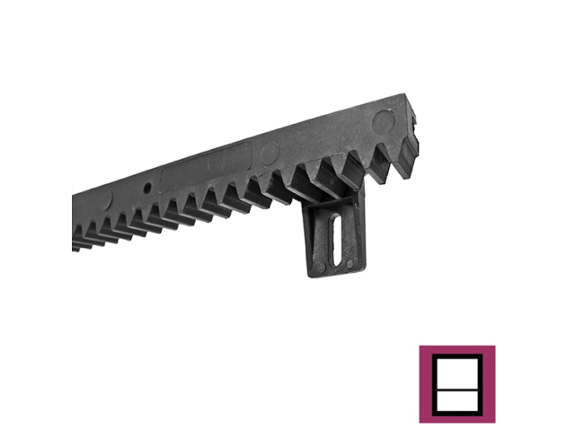 Kunststoffzahnstage mit Stahlkern PVC+Fe,27x20mm,L