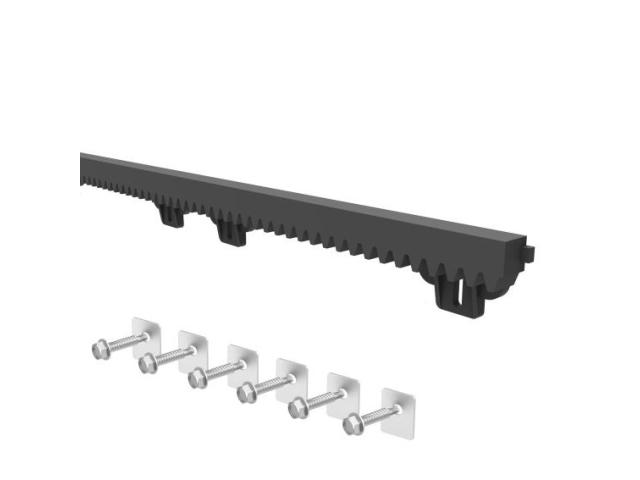 Hřeben plastový PVC+Fe,27x20mm,L1m,max 1200kg