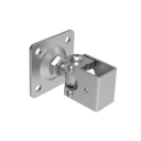 Adjustable hinge with anchoring flange Zn, M20, 10