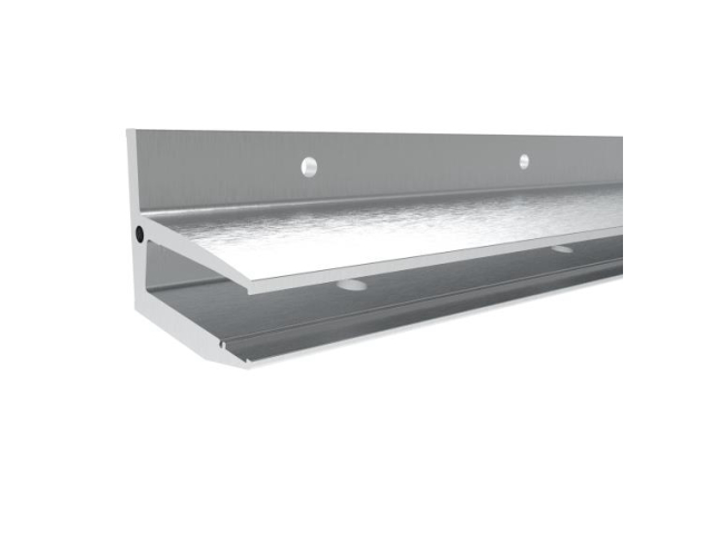 Canopy with aluminium channel profile +10°