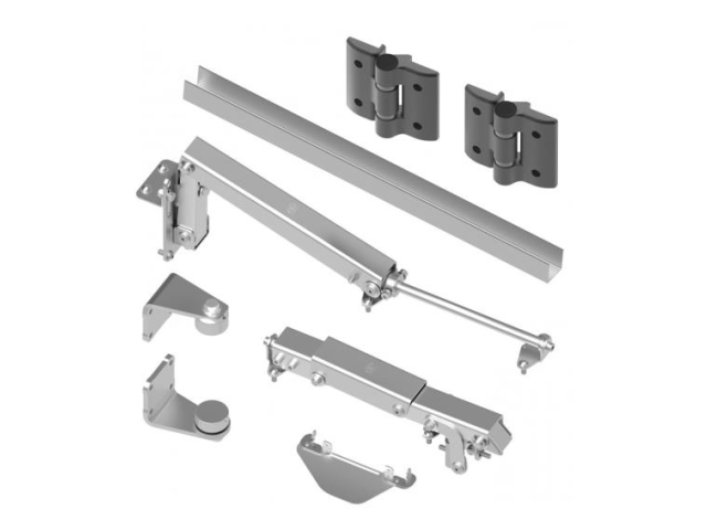 Folding mechanism for swing gates