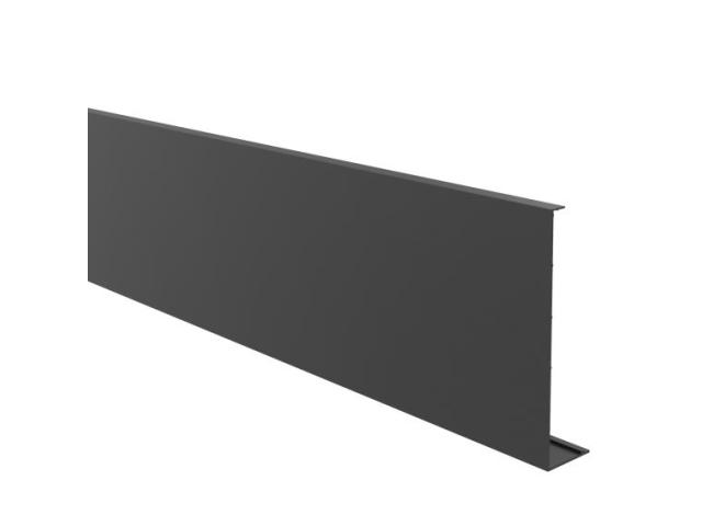 Krycí lišta pro profil-boční kotvení-BLACK ELOX AL