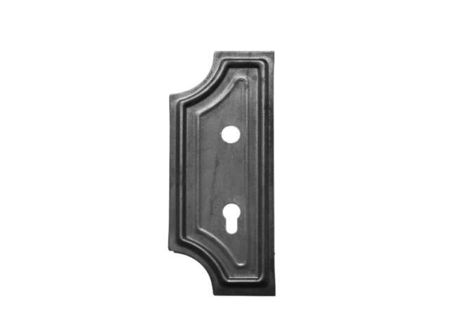 Decorated gate plate, left 280x110, t2,5 , D20