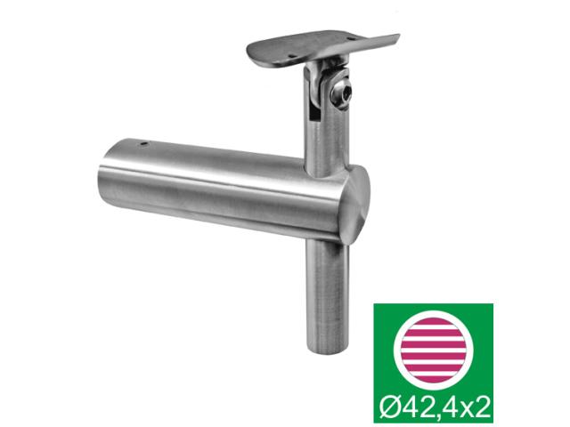 Off-axis handrail bracket AISI316, D42,4/d42,4mm