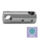 Vertical crossbar holder AISI304, d12/d16mm