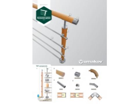 Leták - Nerezové zábradlie  - drevený systém